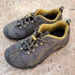 Keen Gray Yellow Hiking Sneakers Boys 2